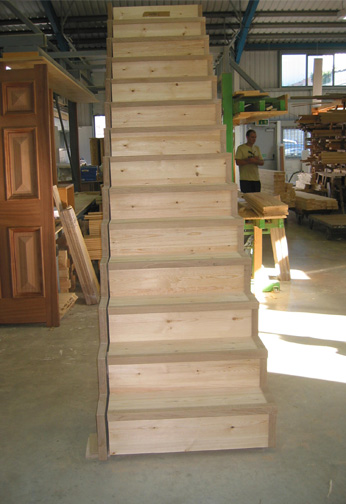 Oak with Glass Balustrading out of string