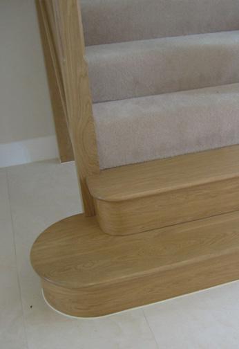 Oak with Standard Glass Balustrading