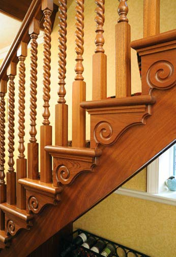 Sapele Cut String Staircase