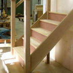 American White Oak Staircase in Factory