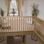 American White Oak Cut String Staircase