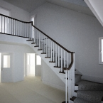 Softwood with Black Walnut Treads & Handrail
