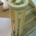 Softwood with Black Walnut Treads & Handrail