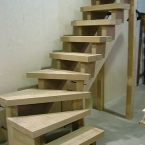 Carriage Staircase with Thick Treads