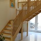 Open Riser Ash Staircase