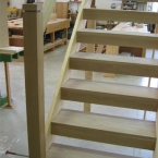 Open Riser Staircase with Oak Treads