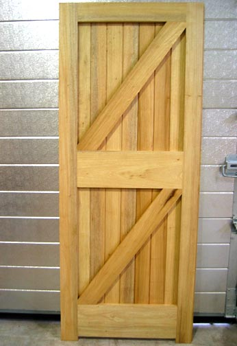 Framed, Ledged and Braced Door in Idigbo