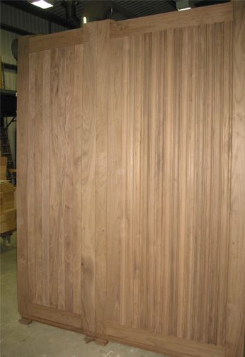 Black Walnut Boarded Doors