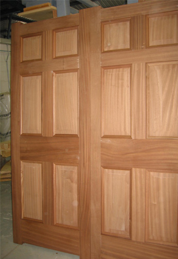Sapele Doors with Raised & Field Panels