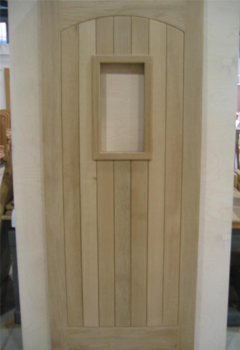 Oak Boarded Door with Aperture