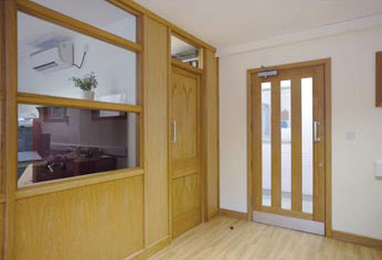 Oak Doors and Screen