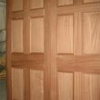 Sapele Doors with Raised & Field Panels