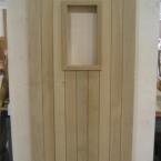 Oak Boarded Door with Aperture