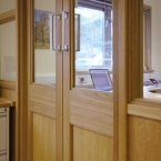 Pair of Oak Doors and Screen