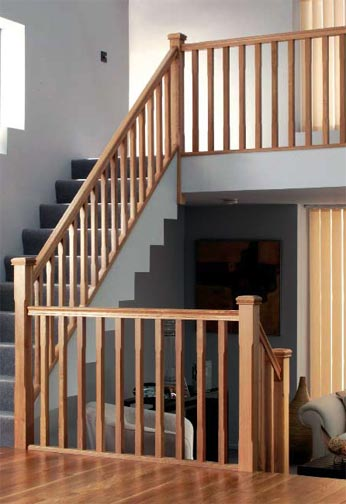 Oak Stop Chamfered Balustrading