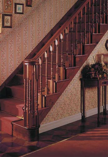 Hardwood Balustrading with Volute